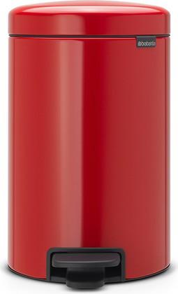 Мусорный бак с педалью 12л, пламенно-красный Brabantia Newicon 112003