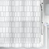 Штора для ванной Spirella Construct, 180x200см, полиэтилен, белый 1020149