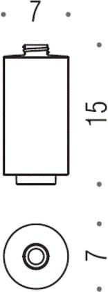 Запасная керамическая белая колба для дозатора жидкого мыла Colombo NORDIC B9366.CBO