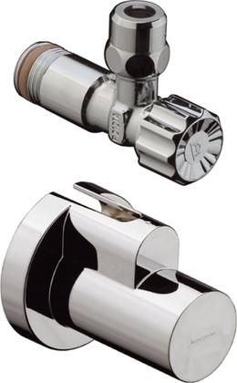 Угловой вентиль с декоративной накладкой, хром Hansgrohe 13954000