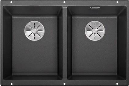 Кухонная мойка Blanco Subline 350/350-U, отводная арматура, антрацит 523574