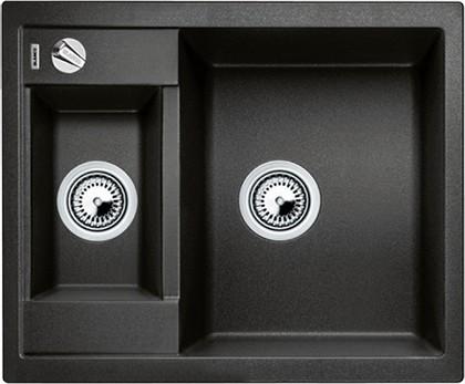 Кухонная мойка оборачиваемая без крыла, с клапаном-автоматом, гранит, антрацит Blanco Metra 6-F 519134