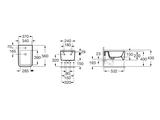 Керамическое подвесное биде 370 х 560 мм, белое Roca INSPIRA SQUARE 357535000