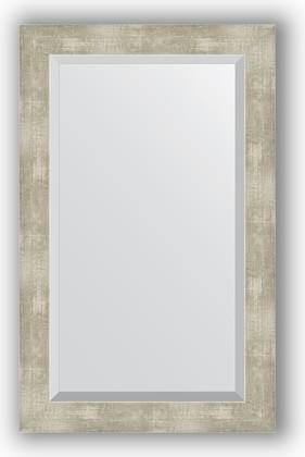 Зеркало 51x81см с фацетом 30мм в багетной раме алюминий Evoform BY 1139