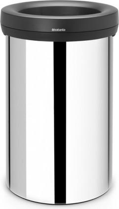 Мусорный бак с открытым верхом 60л, полированная сталь Brabantia 108785