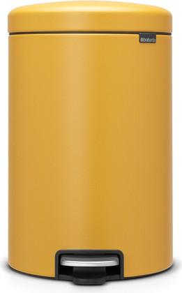 Мусорный бак с педалью 20л, минерально-горчичный Brabantia Newicon 115943