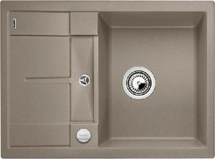 Кухонная мойка оборачиваемая с крылом, с клапаном-автоматом, гранит, серый беж Blanco Metra 45 S Compact 519580