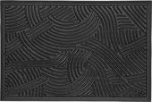 Коврик придверный Golze Structure, 45x75, чёрные волны 328-30-03