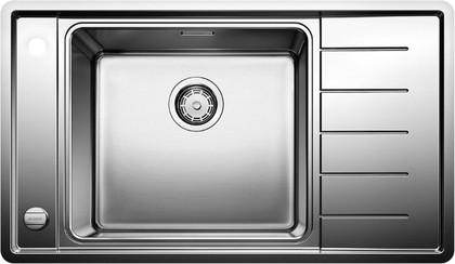 Кухонная мойка с чашой слева , с клапаном-автоматом, нержавеющая сталь полированная Blanco Andano XL 6S-IF Compact 521014