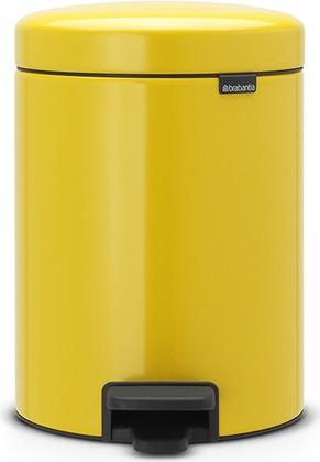 Мусорный бак с педалью 5л, желтая маргаритка Brabantia Newicon 112522