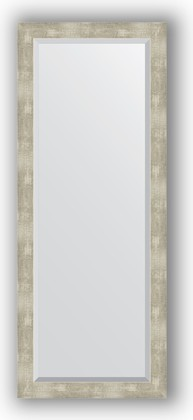 Зеркало 56x141см с фацетом 30мм в багетной раме алюминий Evoform BY 1169