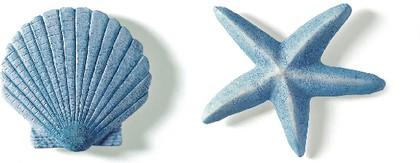 """Декор для ванной """"Раковина и морская звезда"""" голубой, 2шт Spirella MARITIM 1042999"""