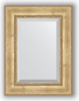 Зеркало с фацетом в багетной раме 62x82см состаренное серебро с орнаментом 120мм Evoform BY 3402