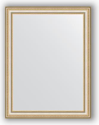 Зеркало 65x85см в багетной раме бусы платиновые Evoform BY 1012