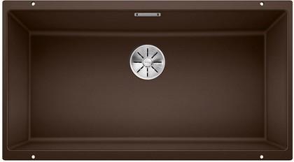 Кухонная мойка Blanco Subline 800-U, отводная арматура, кофе 523150