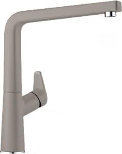 Смеситель кухонный однорычажный с высоким изливом, SILGRANIT серый беж Blanco AVONA 521273