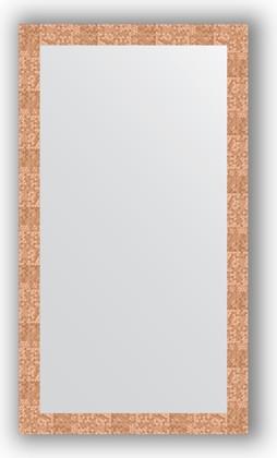 Зеркало в багетной раме 76x136см соты медь 70мм Evoform BY 3306