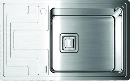Кухонная мойка крыло слева, нержавеющая сталь матовой полировки Omoikiri Mizu 71-1-R 4993005