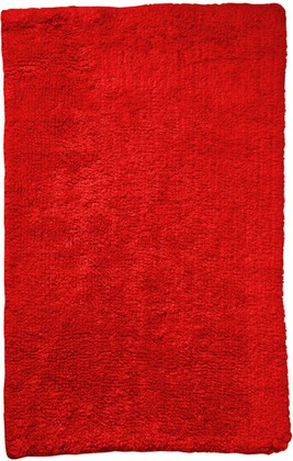 Коврик для ванной комнаты хлопковый 50x70см красный Spirella Campus 4007366