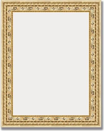 Зеркало 39x49см в багетной раме сусальное золото Evoform BY 1345