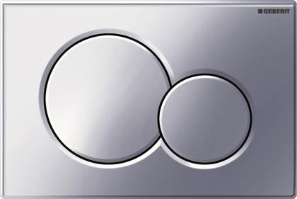 Клавиша двойного смыва, пластиковая, хром глянцевый Geberit Sigma01 115.770.21.5