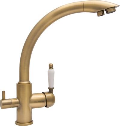 Смеситель для кухни Florentina Шале, кран питьевой воды, бронза 333.26H.2113.700