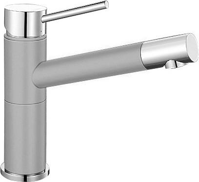 Небольшой кухонный однорычажный смеситель, хром / жемчужный Blanco ALTA Compact 520729