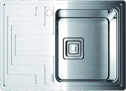 Кухонная мойка крыло слева, нержавеющая сталь матовой полировки Omoikiri Mizu 78-1-R 4993003