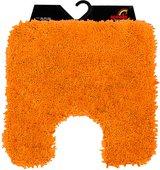 Коврик для туалета Spirella Highland 55x55см, полиэстер/микрофибра, оранжевый 1013067
