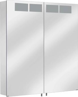 Зеркальный шкаф 66.5x70.0см с подсветкой двухдверный Keuco ROYAL T1 12602171301