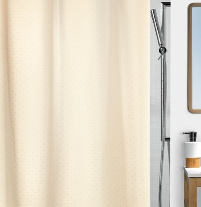 Штора для ванны 180x200см текстильная шампань Spirella Ricco 1043815