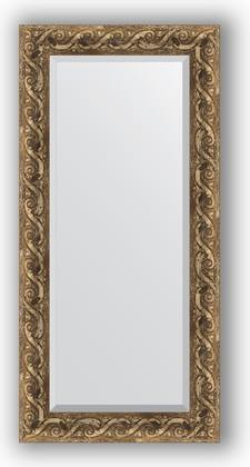 Зеркало 56x116см с фацетом 30мм в багетной раме фреска Evoform BY 1249