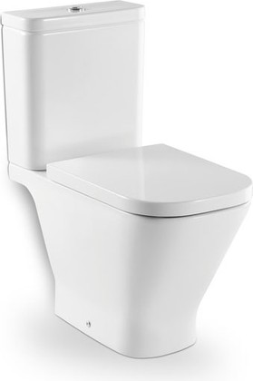 Чаша напольного унитаза керамическая с горизонтальным выпуском Roca The GAP 342477000