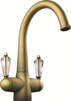 Смеситель для кухонной мойки однорычажный с подключение фильтра для очистки воды, состаренное золото Omoikiri Okinawa-AG 4994077