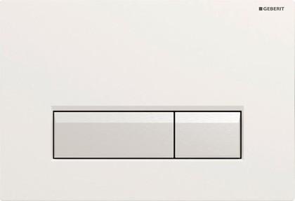 Клавиша двойного смыва со встроенной системой удаления запаха, цвет белый и полированный алюминий Geberit Sigma40 115.600.KQ.1