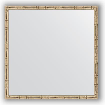 Зеркало 57x57см в багетной раме серебро-бамбук Evoform BY 0608
