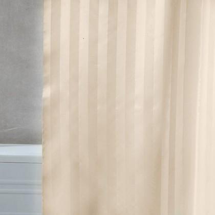 Штора для ванны 240x200 текстильная шампань с атласом с кольцами Grund Rigone 804.99.054