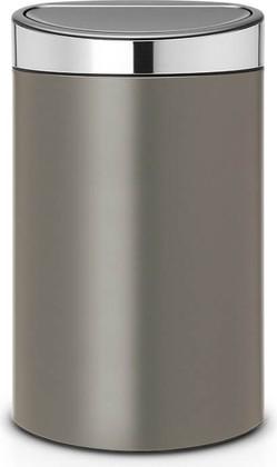 Ведро для мусора 40л, платина Brabantia Touch Bin 114885