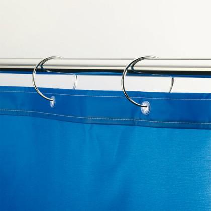 Кольца для шторы в ванную, хром Spirella RINGО 1013695