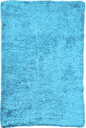 Коврик для ванной комнаты хлопковый 50x70см голубой Spirella Campus 4007368