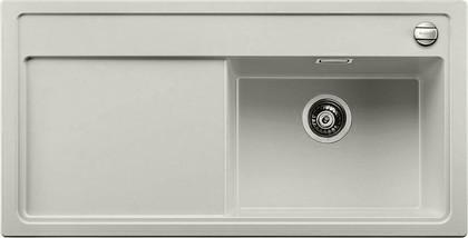 Кухонная мойка чаша справа, крыло слева, с клапаном-автоматом, гранит, жемчужный Blanco Zenar XL 6 S 520618