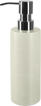 Ёмкость для жидкого мыла керамика, серый Spirella Tube Ribbed 1018514