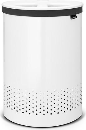 Бак для белья двойной 55л белый с пластиковой крышкой Brabantia 105005