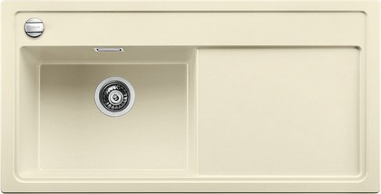 Кухонная мойка чаша слева, крыло справа, с клапаном-автоматом, гранит, жасмин Blanco ZENAR XL 6 S 519286
