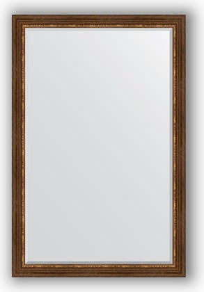 Зеркало с фацетом в багетной раме 116x176см римская бронза 88мм Evoform BY 3621