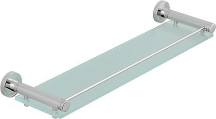 Полка стеклянная с ограничителем L500 хром Сунержа Каньон 00-3004-0500