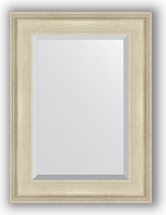 Зеркало 58x78см с фацетом 30мм в багетной раме травлёное серебро Evoform BY 1226