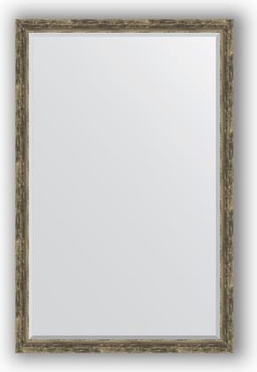 Зеркало с фацетом в багетной раме 113x173см старое дерево с плетением 70мм Evoform BY 3616