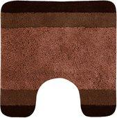 Коврик для туалета 55x55см коричневый Spirella Balance 1014454