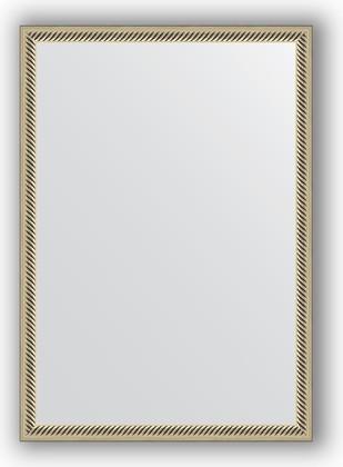 Зеркало 48x68см в багетной раме витое серебро Evoform BY 0622
